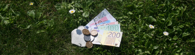 Spielgeld als Synonym für die Zahlungsarten