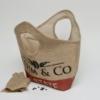 Stabiles ShoppingBag aus Kaffeesack mit rundem Griff